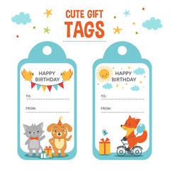 Kid gift tags