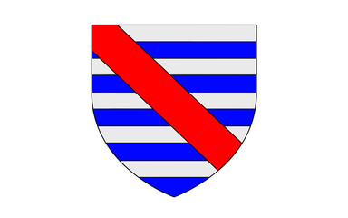 Flag of Parthenay, France