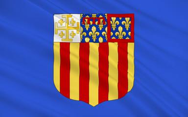 Flag of Aix-en-Provence, France