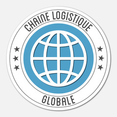 Logo chaîne logistique globale.