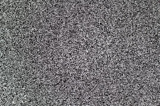 TV white noise on lcd screen