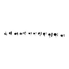 animal tracks Brush Stroke Grunge Vector Textured