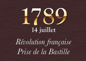 Plaque Historique - 1789 - Revolution - Bastille