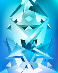 Kaleidoscope, more shapes, unreal construction, geometric elements, many arrows, abstract vector design composition for you project, multicolor version