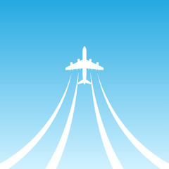 Plane Takeoff Blue icon