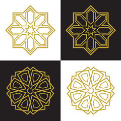 Islamic or arabic shape with elements of ornament