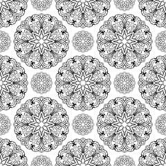 Seamless pattern of mandala.