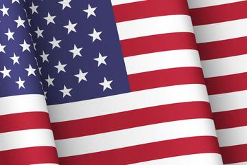 Wind-shaken USA flag