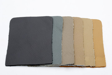 colored pieces of leather