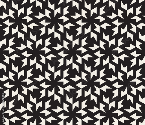 Vector Seamless Black and White Geometric Tessellation Pattern ...