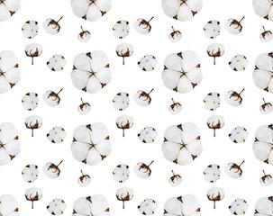 Watercolor cotton pattern