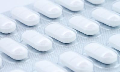 white pills in blister pack