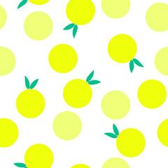 seamless pattern Lemon citrus vector