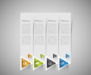 option infographic banners with crystal triangles, graphic design template