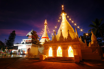 Temple of Light at Maehongsorn, Thailand