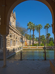 Detail of the Alcazar in Spain