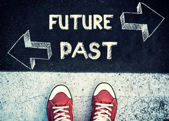 Future and past dilemma Wall mural