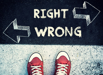 Right and wrong dilemma