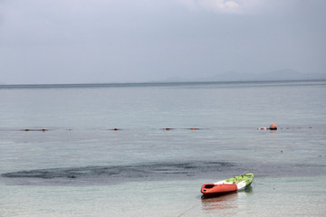 kayak on the beach by the sea
