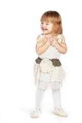 Little girl in a white dress