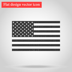 American National official political flag. icon flat design. vec