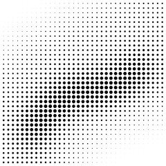 Abstract halftone wave gradient background element