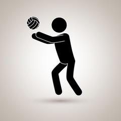volleyball player design
