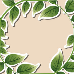 Tropical leaves design. leaf icon. natural concept, vector illustration