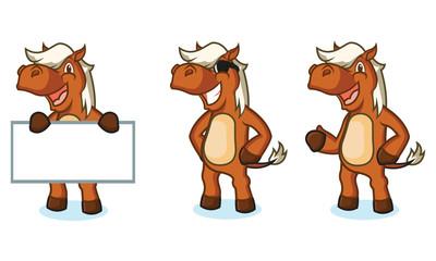 Sienna Horse Mascot happy
