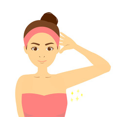 女性のエステイメージ 脇の脱毛