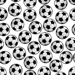 Football or soccer balls seamless pattern