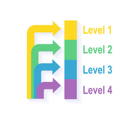 Level Chart with Colored Arrows