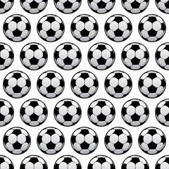 Balls for football or soccer game seamless pattern