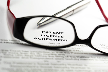 Patent license agreement