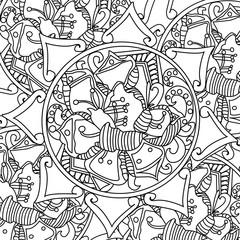 Mandala coloring vector for adults