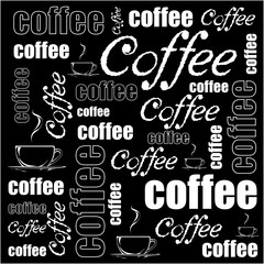 Vector coffee background