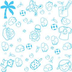 kids happy doodle art