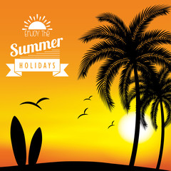 Summer Silhouette background
