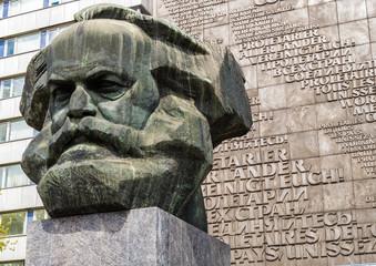 Karl Marx Kopf in Chemnitz