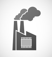 Isolated industrial factory icon with   a photographic 35mm film