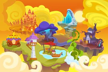 Creative Illustration and Innovative Art: Fairy Tale World. Realistic Fantastic Cartoon Style Artwork Scene, Wallpaper, Story Background, Card Design