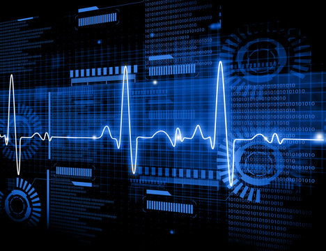 ECG Electrocardiography, medical and healthcare background..