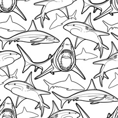 Graphic sharks pattern