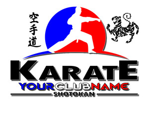 karate logo editable