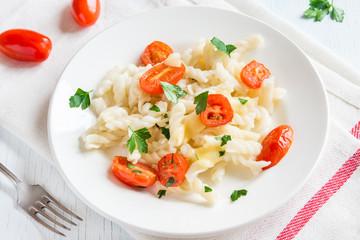 Italian pasta with tomatoes