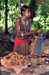 Yirrganydji Aboriginal woman explain about the fruit and seeds f