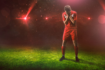 Trauriger Sportler nach Niederlage