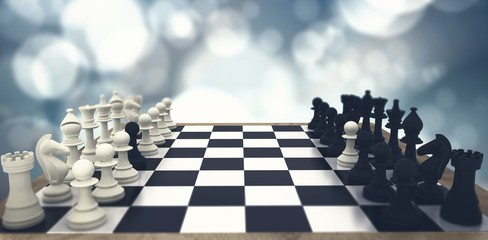Composite image of black and white chess pawns defecting