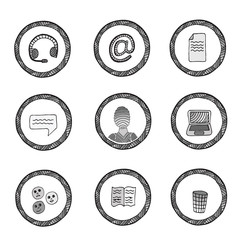 Vector set of icons Part 4