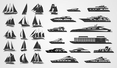 Sailing and motor yachts